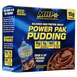 MHP Power Pak Pudding Chocolate Brownie 6 pckts