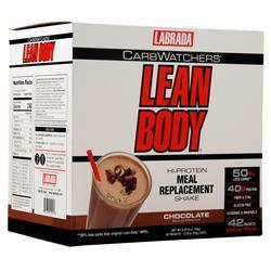 Labrada Lean Body Carb-Watchers Shake Chocolate 42 pckts