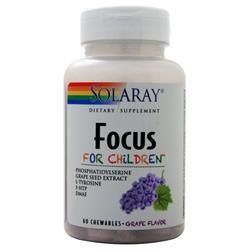 Solaray Focus for Children Grape 60 chews