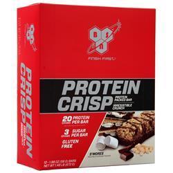 BSN Protein Crisp Bar S'mores 12 bars