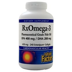 Natural Factors RxOmega-3 Pharmaceutical Grade Fish Oil 240 sgels