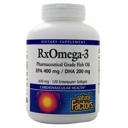 Natural Factors RxOmega-3 Pharmaceutical Grade Fish Oil 120 sgels