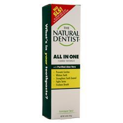 The Natural Dentist All In One Fluoride Toothpaste Peppermint Twist 5 oz
