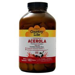 Country Life Chewable Acerola - Vitamin C Complex (500mg) Berry 180 wafrs
