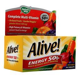 Nature's Way Alive! Energy 50+ Multivitamin - Multimineral Caffeine Free 60 tabs