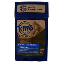 Tom's Of Maine Deodorant for Men Mountain Spring 2.25 oz