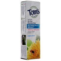 Tom's Of Maine Botanically Bright Whitening Toothpaste Peppermint 4.7 oz