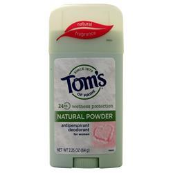 Tom's Of Maine Antiperspirant Deodorant Stick for Women - Natural Powder Natural Fragrance 2.25 oz