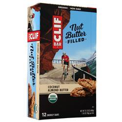 Clif Bar Nut Butter Filled Bar Coconut Almond Butter BEST BY 2/15/20 12 bars