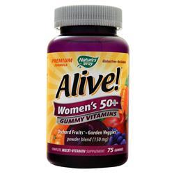 Nature's Way Alive! Women's 50+ Gummy Vitamins Fruit 75 gummy