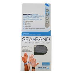 Sea-Band Acupressure Wrist Bands - Adult Gray 1 pack