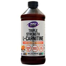 Now Triple Strength L-Carnitine Liquid Citrus 16 fl.oz