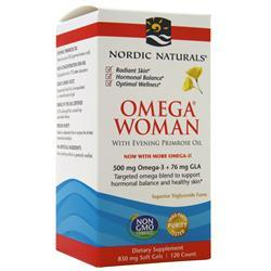 Nordic Naturals Omega Woman with Evening Primrose Oil Blend Lemon 120 sgels
