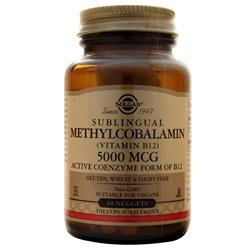 Solgar Sublingual Methylcobalamin (Vitamin B12) 5000 Mcg 60 tabs