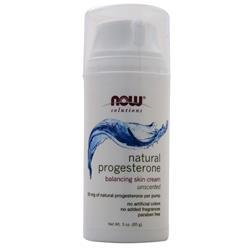 Now Natural Progesterone Cream Unscented 3 oz