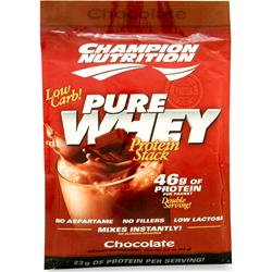 Champion Nutrition Pure Whey Protein Stack Chocolate 60 pckts