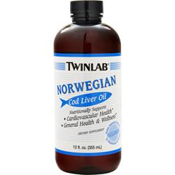 TwinLab Norwegian Cod Liver Oil Liquid 12 fl.oz
