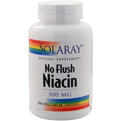 Solaray No Flush Niacin (500mg) 200 vcaps