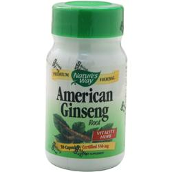 Nature's Way American Ginseng 50 caps