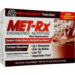 Met-Rx Meal Replacement Drink Mix Extreme Chocolate 40 pckt