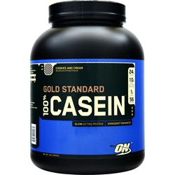 Optimum Nutrition 100% Gold Standard Casein Protein Cookies and Cream 4 lbs